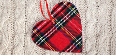 Tartan Heart on Sweater